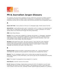 pr u0026 journalism jargon glossary american dental hygienists