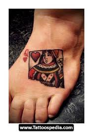 queen of hearts crown tattoo