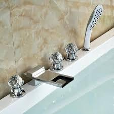 monora brushed nickel waterfall tub faucet three handles nice waterfall tub spouts gallery bathroom with bathtub ideas