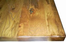 Rustic Distre Rustic Plank Wood Restaurant Tabletops With Industrial Metal Edges
