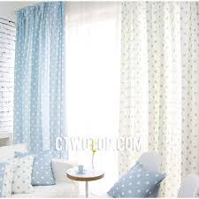 Cheap Nursery Curtains Cheap Warm Fresh Baby Blue And White Polka Dot Curtains