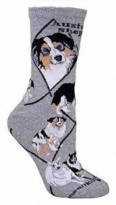 movies with australian shepherds australian shepherd animal socks on gray 9 11 at amazon women u0027s