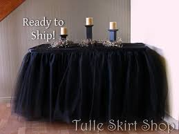 black tulle table skirt ready to ship 17 foot black tulle table skirt tulle table tulle