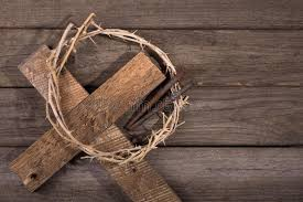 crown of thorns on a cross stock photo image of nails 66859962