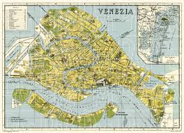 venice map map of venice in 1926 buy vintage map replica poster print or