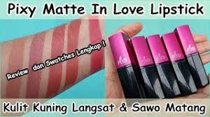 Lipstik Pixy Matte lip swatches 17 pixy matte in lipstick review