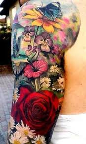 butterfly and flower tattoos designs then going for a