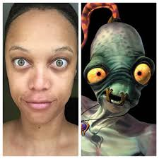 Tyra Banks Meme - make up free tyra banks looks like abe from oddworld imgur