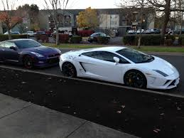 lamborghini modified outside my apartment complex lamborghini and modified nissan gt r