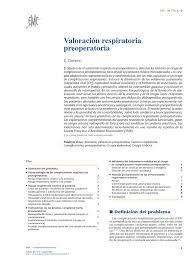 2014 valoración respiratoria preoperatoria pdf