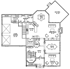 craftsman style house plan 4 beds 2 50 baths 3054 sq ft plan 440 1