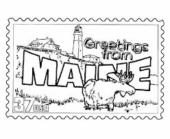 Maine State St Coloring Page Usa Coloring Pages Pinterest Coloring Pages Usa