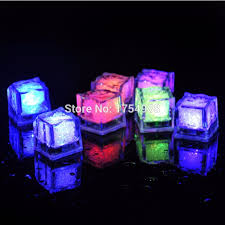 Photo Cubes Centerpieces by Free Shipping Led Light Up Glow Ice Cubes Wedding Party