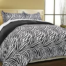 Zebra Print Single Duvet Set Luxury Zebra Microfiber 3 Piece Duvet Cover Set Free Shipping On