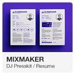 Dj Resume Mixmaker Dj Resume Press Kit Psd Template By Vinyljunkie
