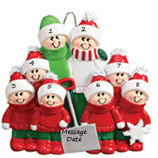 buy snow shovel family of eight personalized ornament from a large