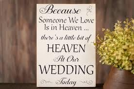 wedding memorial wedding in heaven sign wedding in heaven wood sign