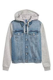 jean sweater jacket outerwear h m us