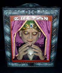 image zultan animated fortune teller halloween prop with box