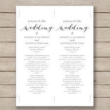 wedding program templates word microsoft word wedding program templates best business template s