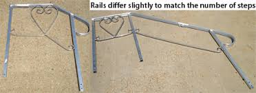 Handrail For Two Steps Wooden Concrete Fiberglass Steps For Mobile Homes