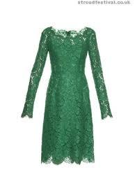 boat neck lace dress dolce u0026 gabbana womens clothing emerald