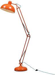 Orange Floor Lamp Adjustable Floor Angle Lamp Retro Design Floor Lamps