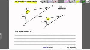 similar shapes 2 gcse higher maths exam qs 24 youtube