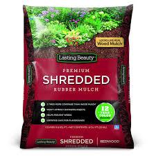 lasting shredded rubber mulch 0 8 cu ft at menards
