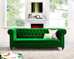 green tufted sofa sofas