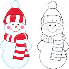 cartoon snowman coloring book royalty free cliparts vectors and