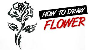 how to draw a rose flower tribal tattoo design ep 143 youtube