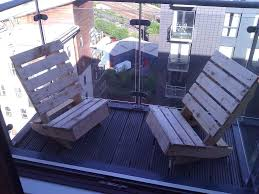 creative diy condo balcony wooden chairs furniture ideas for small