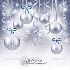 silver christmas christmas background with baubles in silver by luisaventuroli