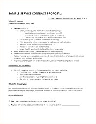 Cleaning Service Agreement Template Proposal For Service Template Template Examples