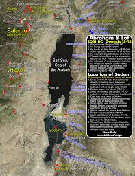 Map Of The Dead Abram Lot And The Location Of Sodom 15 Possible Antitypes In