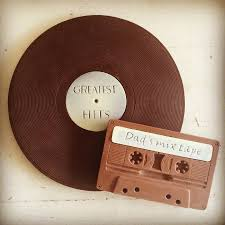 chocolate vinyl record and cassette duo by choc on choc