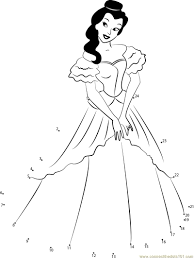 beautiful princesses dot to dot printable worksheet connect the dots