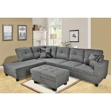 download living rooms grey microfiber sectional sofa helkk com