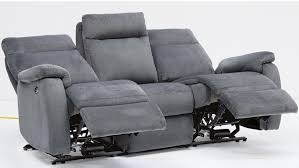 Electric Recliner Sofa dutch fabric electric recliner sofa and chair package charcoal