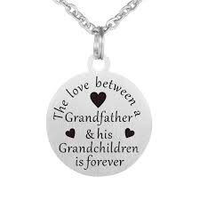 grandchildren necklace the between a grandfather his grandchildren is forever