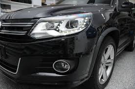 volkswagen tiguan black 2013 volkswagen tiguan bi xenon led drl afs headlights r line oem