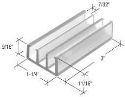 Shower Door Bottom Guide C R Laurence M6089 Crl Clear 1 1 4 Wide Sliding Shower Door