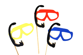Photo Booth Equipment Photo Booth Prop Set Set Of 3 Swim Goggles With Snorkles