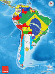 Physical Map Of South America Rivers by Flag Map Of South America Physical Outside