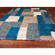 Modern Shaggy Rugs Blue Shag Area Rug Visionexchange Co