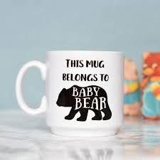 family bear mugs baby mama papa bear set by the best of me
