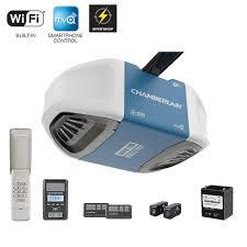 battery operated garage door opener chamberlain 1 1 4 hp smartphone controlled ultra quiet u0026 strong