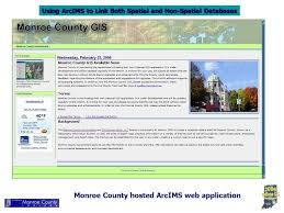 using arcims to link both spatial and non spatial databases monroe