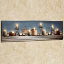 coastal charm led lighted canvas wall
